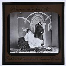 *Louis IV (Grand Duke of Hesse, 1837-1892). A photographic lantern slide of Grand Duke Louis of Hesse and his wife Princess Alice (third child of Queen Victoria) acting a tableau vivant for the death scene of Romeo and Juliet at Balmoral Castle,
