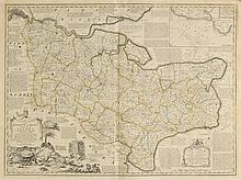 Kent. A mixed collection of fifteen maps, 18th & 19th century,