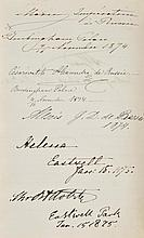 Russian State Visit, 1874. A partially completed visitors' books, 1874-75,