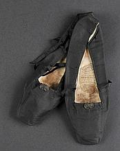 *Victoria (Queen of Great Britain & Ireland, 1819-1901). A pair of satin shoes worn by Queen Victoria,