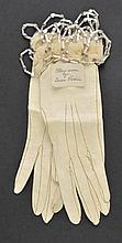 *Victoria (Queen of Great Britain & Ireland, 1819-1901). A pair of gloves worn by Queen Victoria,