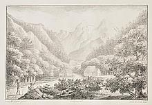 Cavendish (Georgiana, Duchess of Devonshire). The Passage of the Mountain of Saint Gothard, a poem, C. de Lasteyrie, [with parallel French translation by L'Abb' de Lille], [Paris], [circa 1795-1800],
