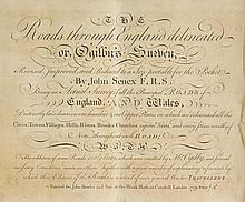 Senex (John). The Roads through England delineated or Ogilby's Survey Revised, Improved and Reduced to a Size Portable for the Pocket..., published John Bowles and Son, 1759,