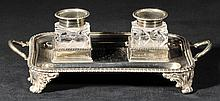 Ink stand.  - An Edwardian silver ink stand by Thomas Bradbury & Sons, London, 1907,