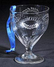 Spa glass.  - A George III spa glass, circa 1800,