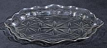 Spoon tray.  - An 18th-century shallow moulded glass spoon dish, circa 1760,