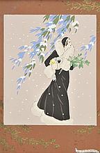 Meschini (Giovanni, 1888-1977). - Female figures in fur-lined coats,
