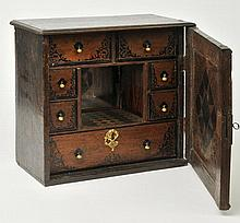 Penkill Castle.  - A spice cabinet from Penkill Castle, later 19th century, incorporating earlier components,