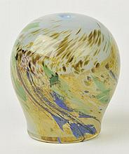 Herman (Samuel J., 1936-).  - Round vase in blue with green and gold, 1981,