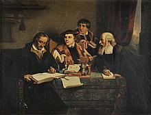 Follower of Louis Hersent (1777-1860). - 'Martin Luther surrounded by Protestant Reformers',