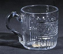 Mug.  - A Georgian Irish glass porter's mug, circa 1800,
