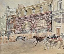 Griffen (F., 20th century). - Old Brompton Road Tube Station in War Time, 1940,
