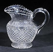 Jug.  - A Georgian cut glass water jug, circa 1820,