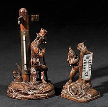 Black Forest.  - An early 20th-century Black Forest desk thermometer,