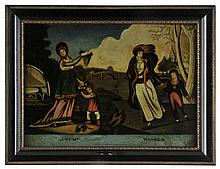 Glass paintings. - Spring [and] Summer, Autumn [and] Winter, circa 1780,
