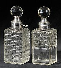 Decanters.  - A matched pair of Edwardian spirit decanters,