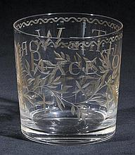 Commemorative glass.  - A Continental glass, circa 1815,