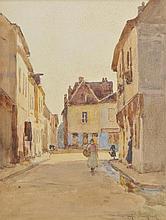 Brockbank (Albert Ernest, 1862-1958). - Market town with figures,