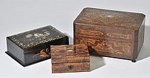 Sewing box.  - A 19th-century Continental sewing box, c.1850,