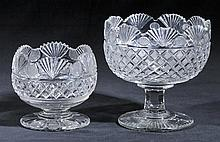 Bowl.  - A George III cut glass bowl, circa 1825,