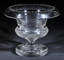 Bowl.  - An impressive Georgian Irish turned over glass bowl,