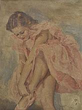 Fried (Pal (1893-1976)). - Ballerina in a pink dress,