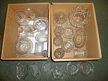 Mixed glassware.  - A collection of Georgian and later glassware