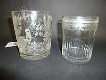 Mug.  - A Georgian glass tumbler,