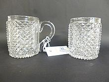 Mugs.  - A pair of George III mugs,