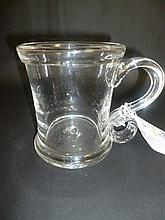 Tankard.  - A large glass tankard, 18th century,