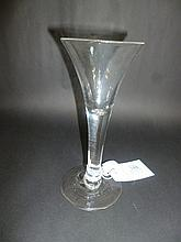 Trumpet glass.  - A George II glass, circa 1740,