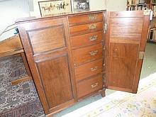 Collectors Chest.  - A Victorian mahogany collectors chest,