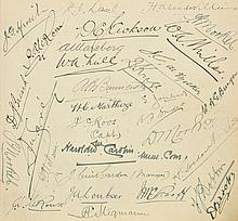 Rugby – South Africa & Wales. An autograph album containing 5 pages of South Afr
