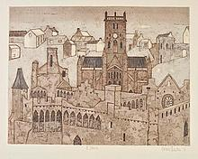 Thornton (Valerie, 1931-1991). St. Davids, 1971, etching with aquatint, signed,