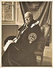 Churchill (Winston Spencer, 1874-1965). Portrait of Winston Churchill at the Ga