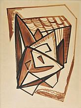 AR Evans (Merlyn Oliver, 1910-1973). Composition, 1934,  watercolour and black