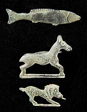 Roman Brooch. A collection of Roman bronze bar brooches in the shape of animals