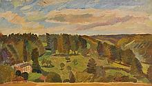 Freedman (Barnett, 1901-1958). House in landscape, possibly Kenwood, oil sketch