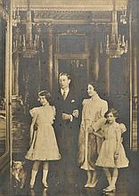 AR George VI (King, and family). A large group portrait of King George VI and Q