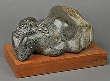 Taulbut (John, M., 1934-). Leila, carved Cornish polyphant stone, original wood