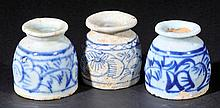 Chinese Porcelain. A pair of Chinese porcelain ink pots, probably Qianlong peri