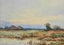 Stannard  (Ivy, 1881-1968). Flintwick Moor, watercolour, signed lower left,  17