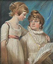 Smith (John Raphael, 1752-1812). Mary & Elizabeth, the Artist's Daughters, paste
