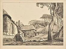 Hoyton (Edward Bouverie, 1900-1988). Virgil's Farm, 1926-28,  etching on cream