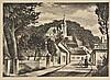 AR Nevinson (Christopher Richard Wynne, 1889-1946). French village, 1928-29,  l