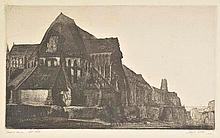 AR Webb (Joseph, 1908-1962). Dream Barn, 1929,  etching on thick laid paper, si