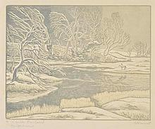 AR Raverat (Gwen, 1885-1957). Childe Rowland, 1947,  colour wood engraving on l