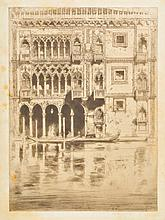 AR Cameron (David Young, 1865-1945). Ca d'Oro, 1900,  etching with drypoint on