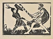AR Raverat (Gwen, 1885-1957). The Knight of the Burning Pestle, 1909,  woodcut