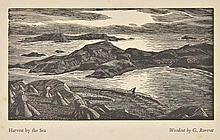 AR Raverat (Gwen, 1885-1957). Harvest by the Sea, 1938,  woodcut on thick wove